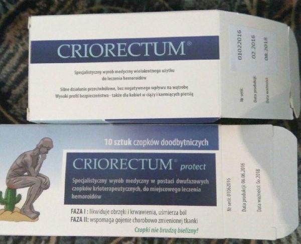 Tani chwyt marketingowy czyli Criorectum Protect - opinie po rozczarowaniu